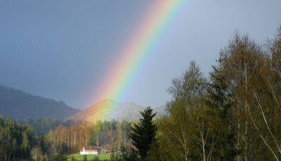 Rainbow at Goeschlhof in Mariazell
